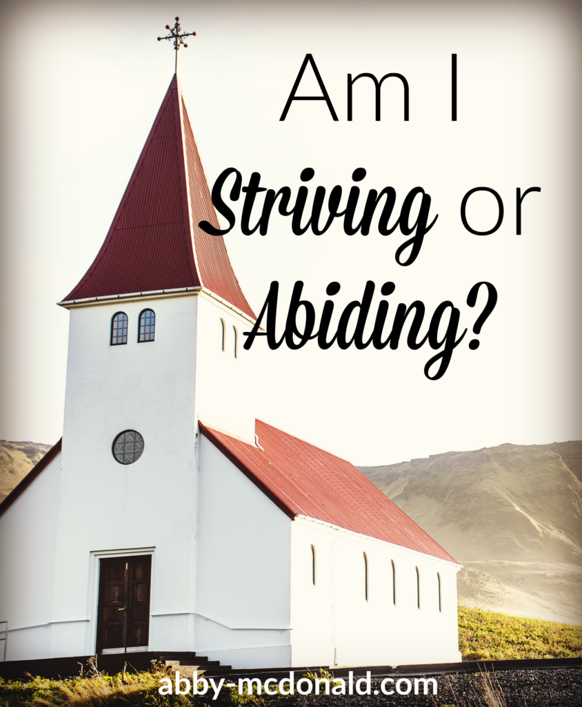 striving-or-abiding